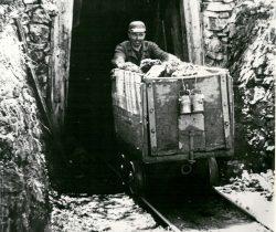 Meilenstein von Ende des Bergbaus